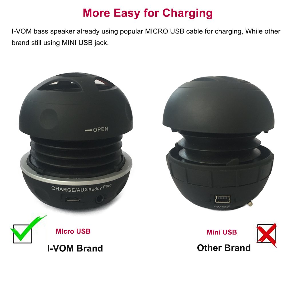 I-VOM Expandable BASS Resonator + Mini Speaker for iPhone/iPad/iPod/MP3 Player/Laptop - Black by I-VOM (Image #5)