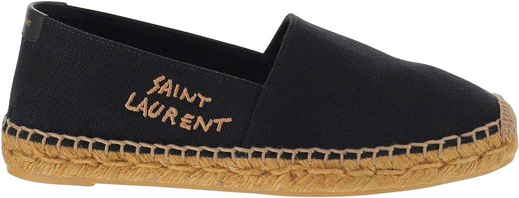 Amazon.com: Saint Laurent Luxury Fashion Mujer 6059561P2101000 Negro  Algodón Alpargatas | Primavera Verano 20, Negro, 9.5: SAINT LAURENT: Shoes