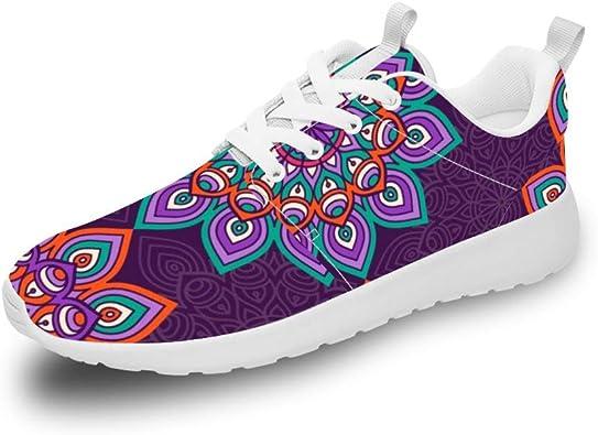 Mesllings Zapatillas de Running Unisex con diseño de Mandala Vintage, sin Costuras, 4 Zapatillas Ligeras para Deportes al Aire Libre: Amazon.es: Zapatos y complementos