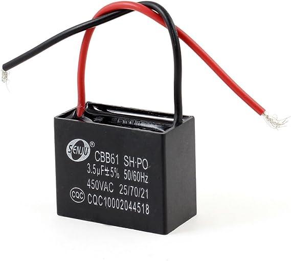 Sourcingmap - Motor del ventilador de techo cbb61 condensador de ...