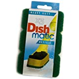 9x Heavy Duty Dishmatic Green Refill Sponges from Caraselle
