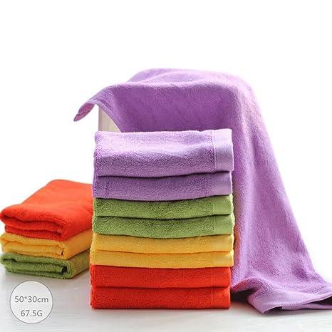 ZLR Toalla de fibra de bambú pequeña Toalla de lavado de niños toalla de algodón puro