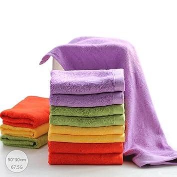 ZLR Toalla de fibra de bambú pequeña Toalla de lavado de niños toalla de algodón puro Toalla de lavado de agua suave absorbente (toallas * 8): Amazon.es: ...