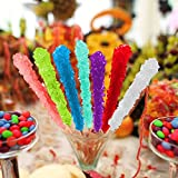 Espeez Rock Candy - Candy Buffet - 36 Assorted Sticks - For Birthdays, Weddings, Receptions, Bridal and Baby Showers (Clear Wrappers)