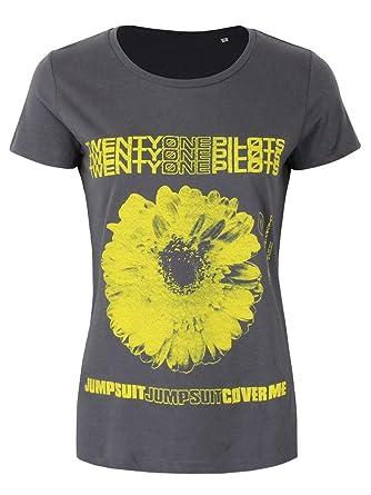 Twenty One Pilots Daisy Camiseta Mujer Ceniza/Negro S: Amazon.es: Ropa y accesorios