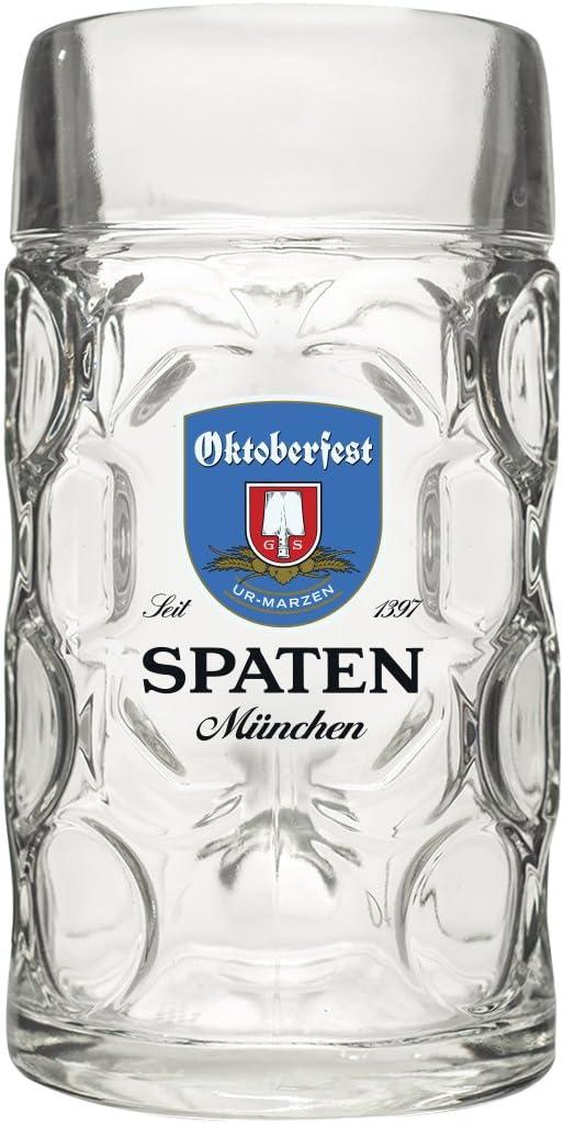 Spaten Munchen Oktoberfest Isar Tankard Beer Stein, 0.5L