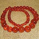 70 Grams! Vintage Genuine Baltic Egg Yolk Amber Round Beads Necklace. Natural! (55)