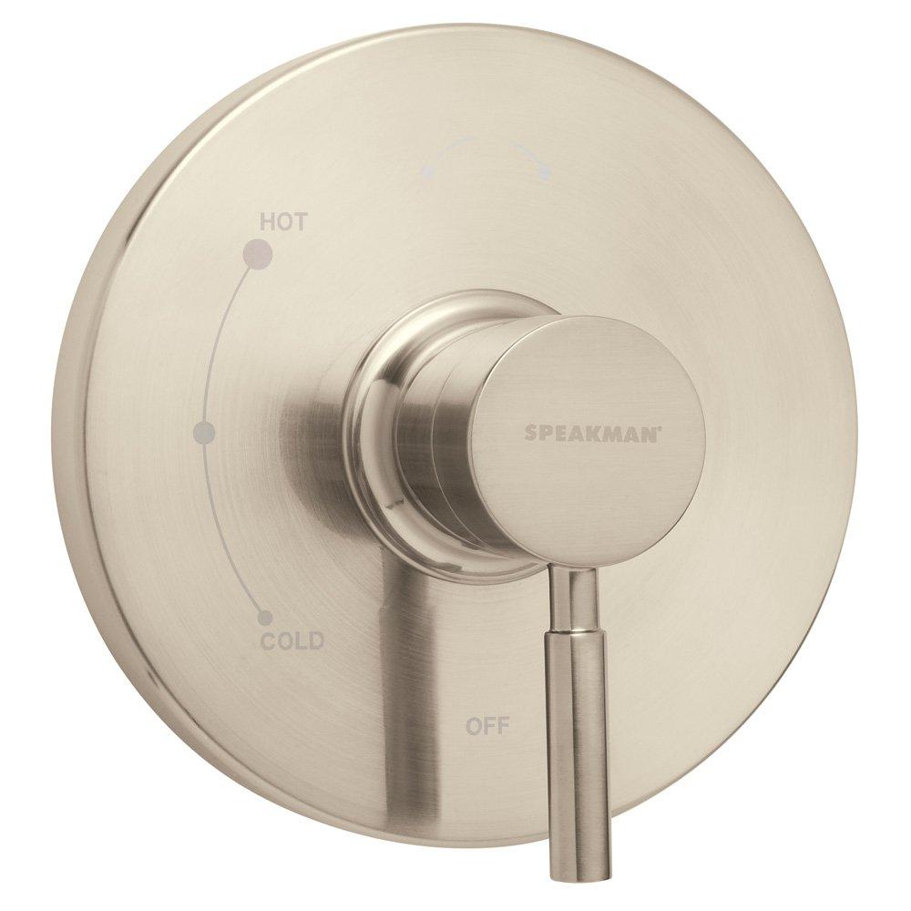 Brushed Nickel Speakman CPT-1000-P-PN Neo Pressure Balance Shower Valve Trim, Polished Nickel (Valve Not Included)
