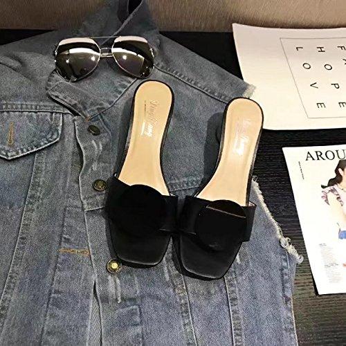 In Primavera E In Estate, Il Tacco È Forte Con Le Pantofole,Black,Eu37,Cn38