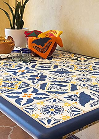 Ordinaire Mexican Talavera Tiles Wall Stencils U0026 Furniture Stencils For DIY Painting    Set ...
