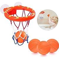 NATUCE Juguetes de baño,Mini Baloncesto aro Set &