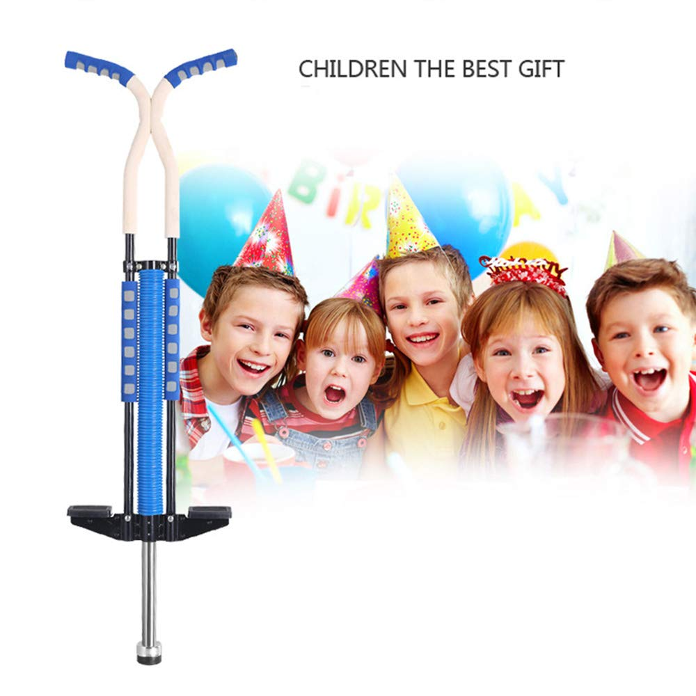 Mengsi Pogo Stick Jumping Stick Jumper for Adults and Teenagers Supports Up to 125lbs Perfect for Balance Training,Blue by Mengsi (Image #4)