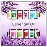 Confezione da 6/12/24 oli essenziali solubili in acqua, diffusori con ingredienti biologici per aromaterapia, set regalo per spa, yoga, riduzione dello stress, purificazione dell'aria 12