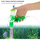 Goolsky Fish Tank Water Changer Gravel Cleaner Sand Washer with 6ft Soft Hose and Water Flow Clamp