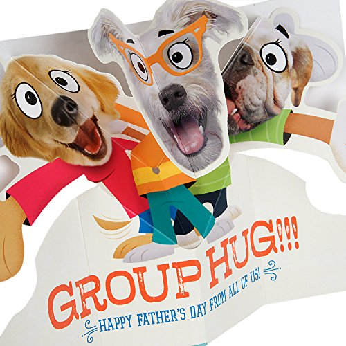 Hallmark Funny Father's Day Greeting Card from All (Dog Pop-Up Group Hug) Photo #5