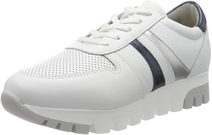 Tamaris Sneakers 23750-24 Damen Weiß mit Silberstreifen
