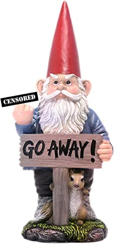 "DWK ""Take A Hike Go Away"" Garden Gnome Statue"