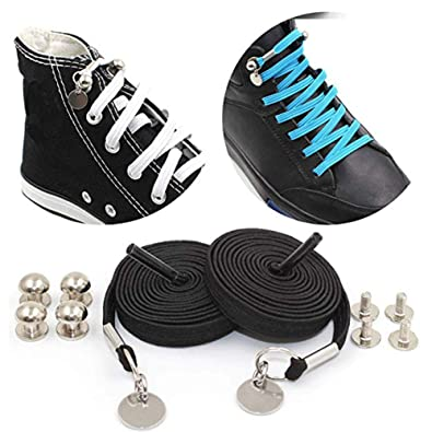 DIY Pair of Perfect One Hand No Tie Laziness Shoelace Laces Elastic Set Best