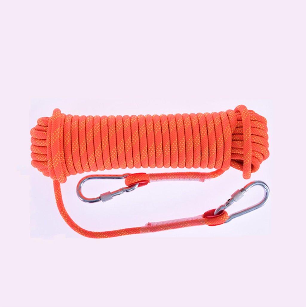 登山ロープ、オレンジ直径10mm/12mm/15mmロッククライミングロープ、10M、15M、20M、30M、アウトドア探検救助ロープ、高強度ナイロンロープ安全ロープ (色 : Diameter-12mm, サイズ さいず : 30M) 30M Diameter-12mm B07DK59TDD