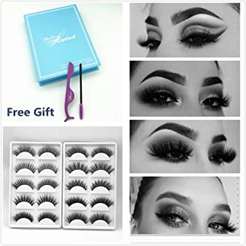 e2c8d15be0a Miss Kiss Brand 10 Pairs Different Style 3D Faux Mink Eye lashes Long Thick  Volume Dramatic