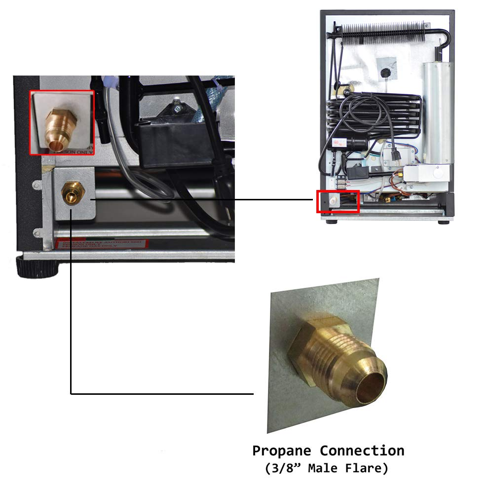 Nevera SMAD CA/CC/GLP compacta; nevera a gas propano para ...