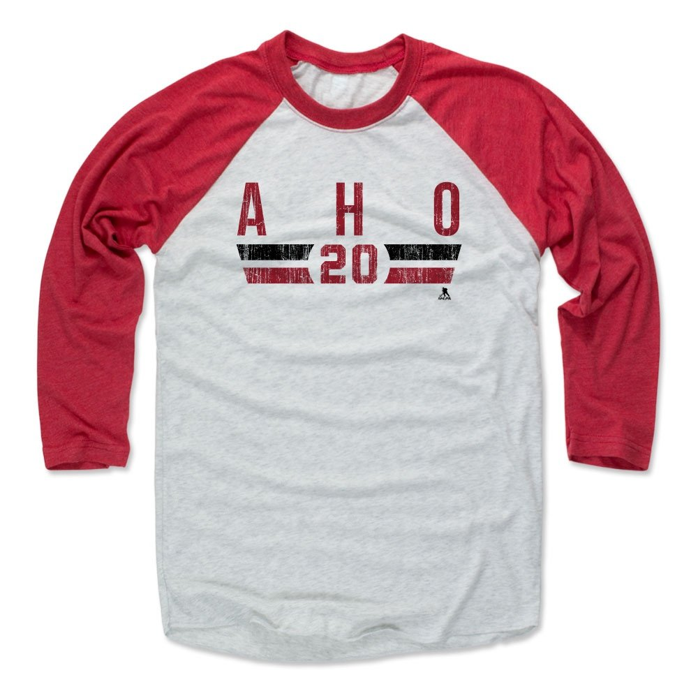 Amazon.com   500 LEVEL Sebastian Aho Baseball Shirt - Carolina Hockey Fan  Gear - Sebastian Aho Carolina Font   Sports   Outdoors be203770326