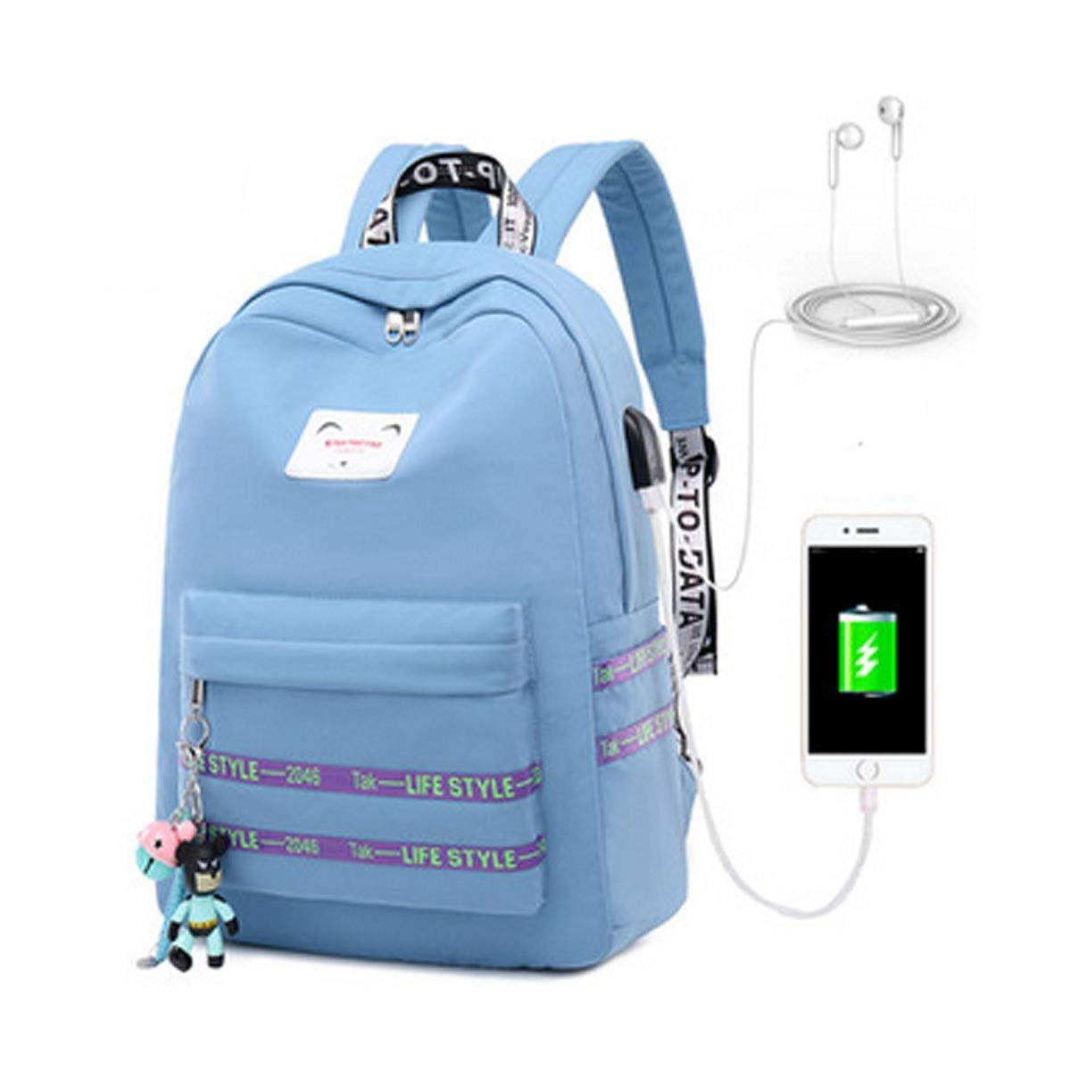Light bluee 281139cmA2 School Bag, Student Backpack, Casual Backpack, Wearresistant Waterproof Backpack, Suitable For Junior High School Students, High School Students, Office Workers, 311242cm, Pink, Black
