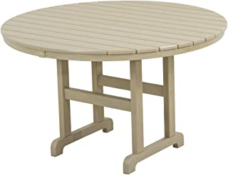 product image for POLYWOOD RT248SA Round Dining Table, 48-Inch, Sand