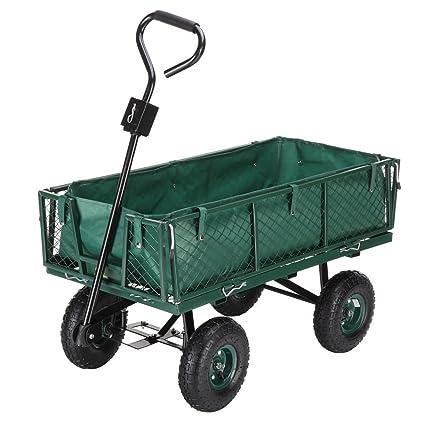 Gentil Palm Springs Outdoor Heavy Duty Garden Cart/Utility Wagon   600lbs Max  Capacity