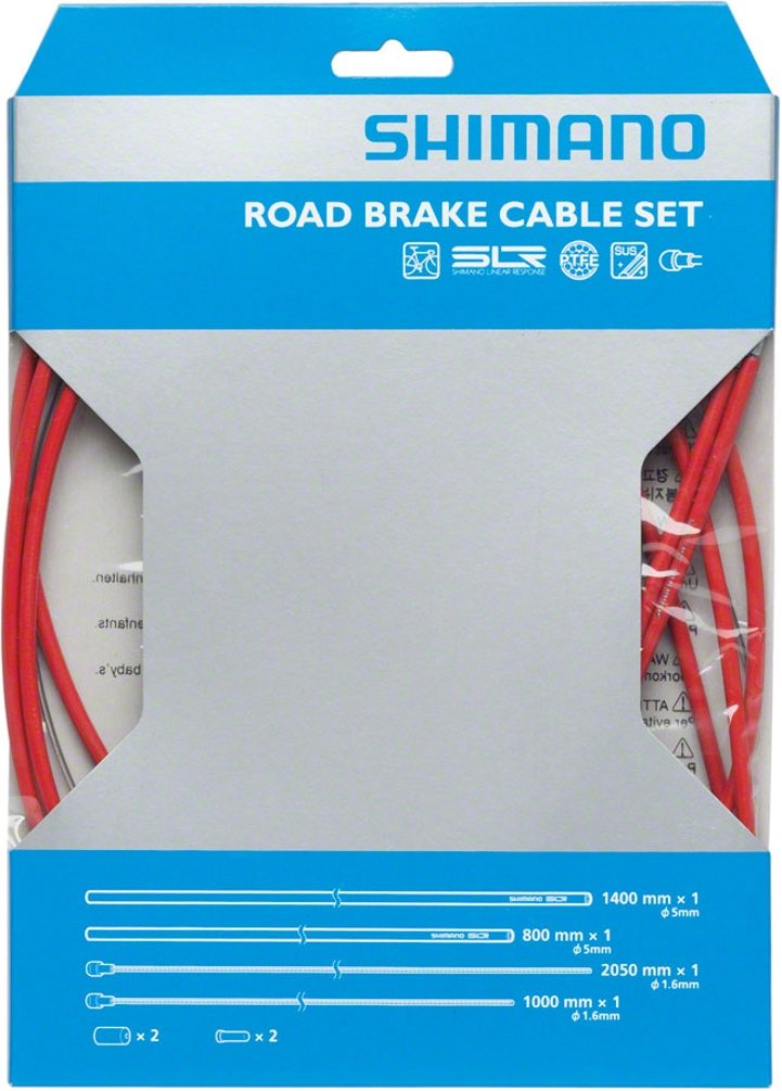 SHIMANO PTFE Road Brake Cable and Housing Set (Red) by SHIMANO