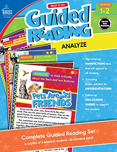 Carson-Dellosa Ready to Go Guided Reading: Analyze Resource Book, Grades 1-2 (Teaching Middle School Students To Analyze Text)