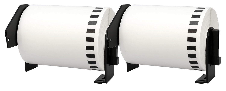 10x DK-22243 102 mm x 30.48 m Cintas de Etiquetas Brother continuas compatibles para Brother Etiquetas P-Touch QL-1050, QL-1050N, QL-1060N Impresoras de Etiquetas 686cea