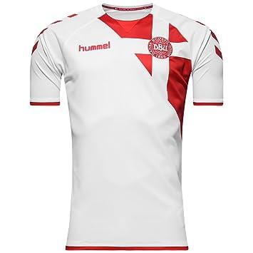 detailed look 61901 f8ce1 2017-2018 Denmark Away Hummel Football Shirt, Jerseys ...