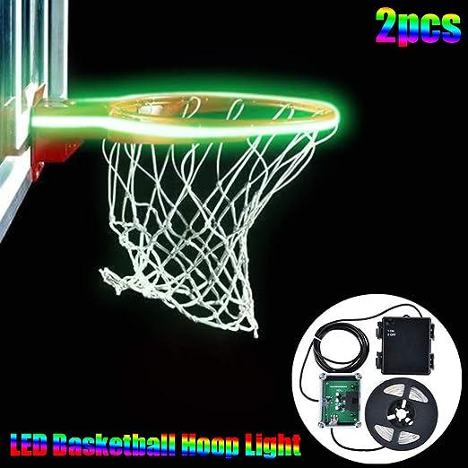 LONGSUODI Canasta de Baloncesto Luces LED Sistema de iluminación ...