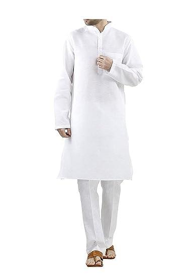 73a88d0f3ffb0 Royal Kurta Mens 100% cotton white comfortable kurta pyjama  Amazon ...