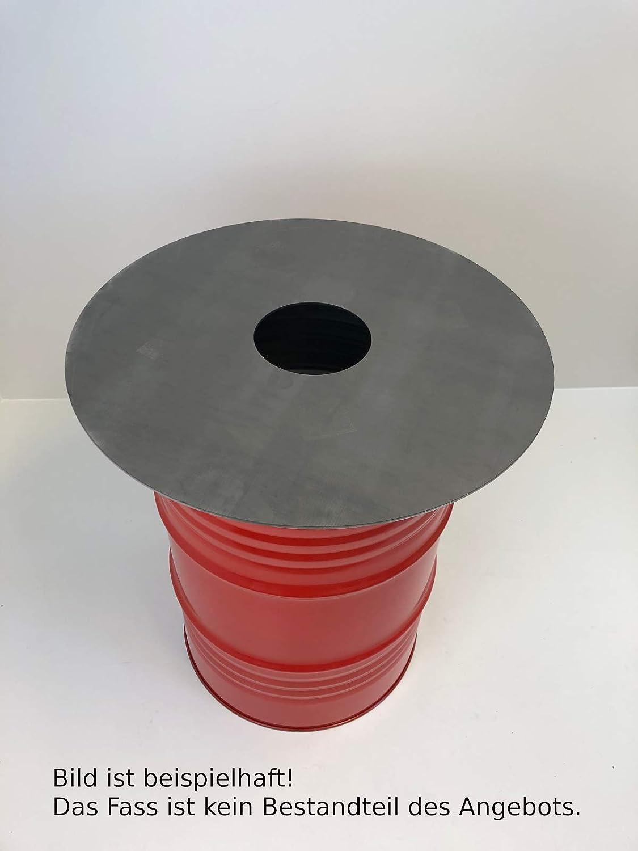 TMM Grillplatte Feuerplatte /Ø 80cm Barbecue 5mm Grill BBQ Fassgrill Stahlfass Holzkohlegrill Kugelgrill Feuertonne