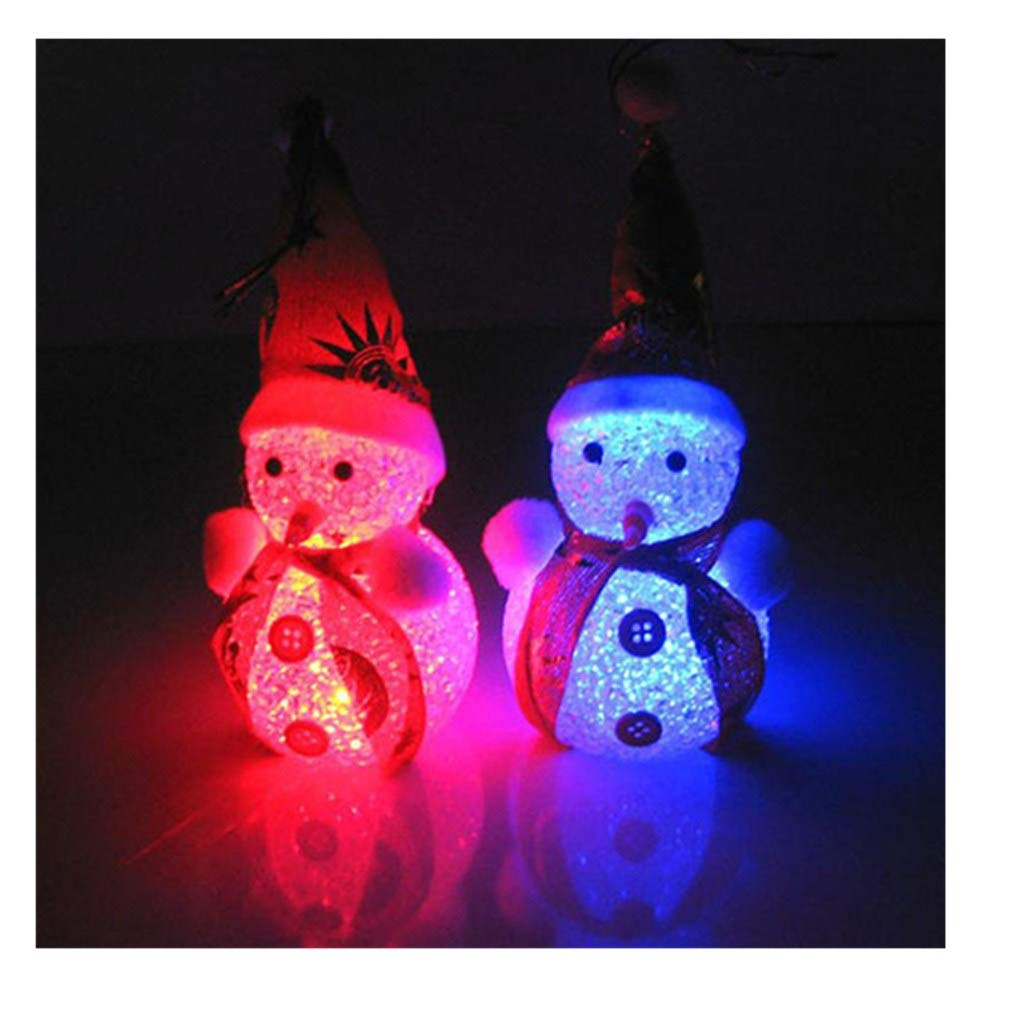 Midress Christmas LEDs Snowman Desk Luminous Gift,Light Up Glowing Snowman Warm White LEDs Christmas Xmas Decoration, Office Desktop&Cabinet Display (Multi)