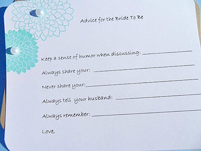 advice for the bride to be cards bridal shower wish cards