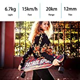 Ferty Dual Motor Electric Skateboard Longboard,7-ply Rock Hard Maple Deck 42V Lithium Battery with Bluetooth Speaker Remote Controller [US STOCK]