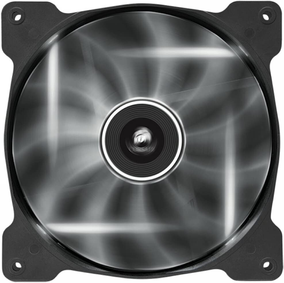 Corsair AF140 LED Quiet Edition Ventilador de PC (140 mm, Alto Flujo de Aire, Iluminación LED Blanco) Paquete Soltero