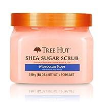 Tree Hut Shea Sugar Scrub Moroccan Rose, 18oz, Ultra Hydrating and Exfoliating Scrub...