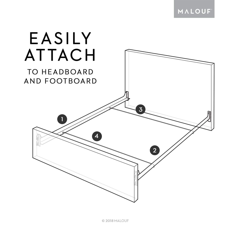 Amazon.com: MALOUF Structures Sistema de riel de cama de ...