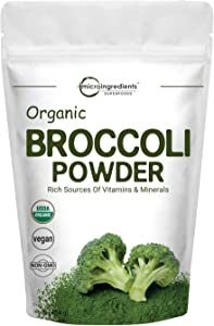 Micro Ingredients Organic Broccoli Extract Powder, 1 Pound (454g), Rich in Fiber, Amino Acids, Antioxidants and Flavonoids, Green Superfood for Smoothie and Drinks, No GMOs and Vegan Friendly