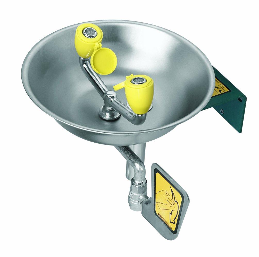 Speakman SE-580 Traditional Series Wall-Mounted Emergency Eyewash, Yellow