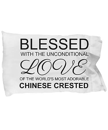 Amazon.com: Crestado chino funda de almohada y Bendecido con ...
