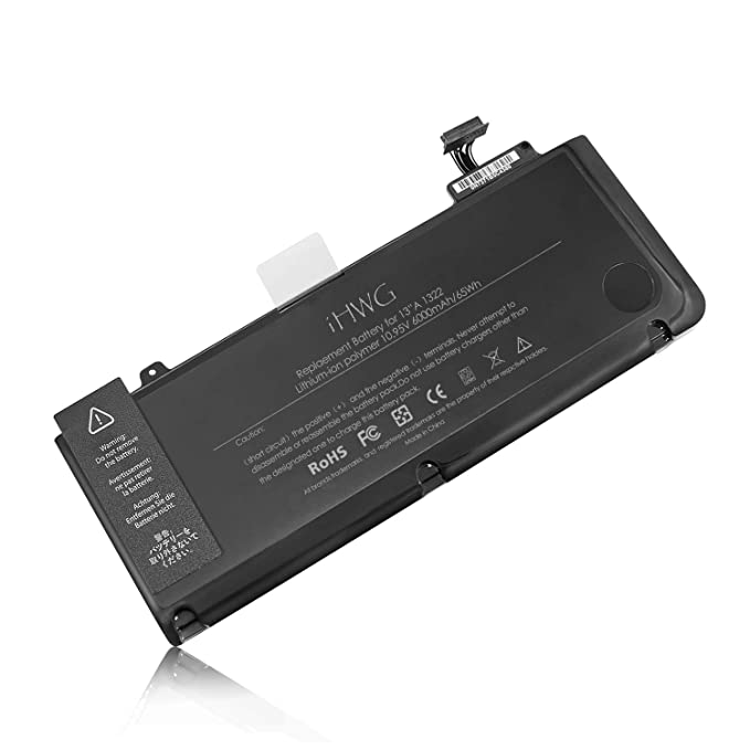 iHWG A1278 Batería para A1322 APPLE MacBook Pro 13 (2012 2011 2010 2009) Serie, Compatible Macbook Pro MD101 MD101LL/A MD102 MD102LL/A MC700LL/A MB990 ...
