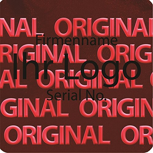 EtikettenWorld BV, EW-H-2300-14-ts-700, 700 Stück Hologrammaufkleber, 2D, 10x10mm rotfarbige rotfarbige rotfarbige Metallfolie, bedruckt in schwarz mit Ihrem Wunschtext Logo, Hologramm Etiketten, selbstklebend, Hologramm Aufkleber, Sicherheitssiegel, Garantiesiegel, Garan 6c127b