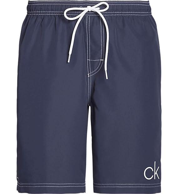 Calvin Klein - Traje de baño Largo, diseño Retro con ...