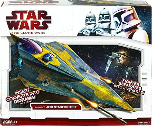 Star Wars Clone Wars Star Fighter Vehicle - Anakin