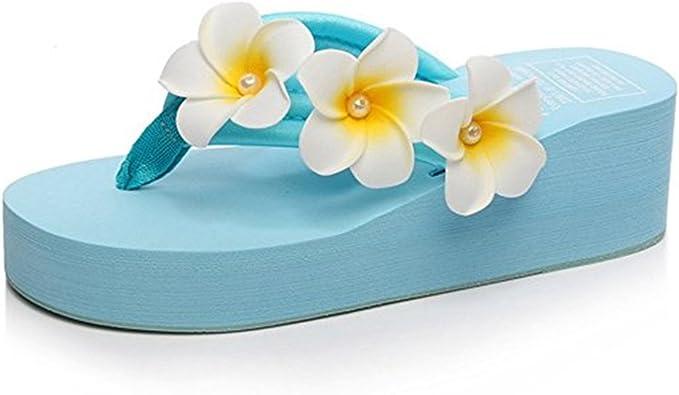 Hawaiian Flamingos Flowers Aloha wear-Resistant Comfort Women Slides Sandal